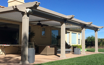 Roll X ® Adjustable Patio Covers.